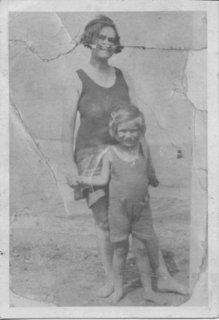 Joan age 4 with her mother, Neva Wehlen (maiden name:  Levish).