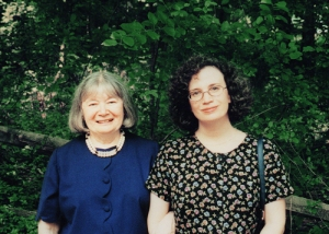 The Authors of Home Front Girl outside of Joan's house and Susan's girlhood home in Morristown, New Jersey.