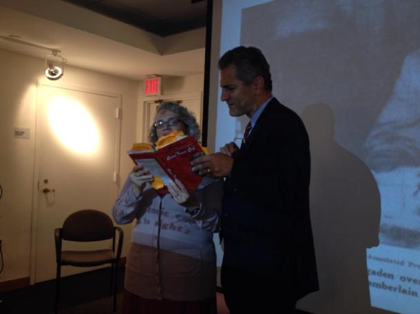 "Tony Boyadjis and I reading ""Frazier"" and ""Joan"""