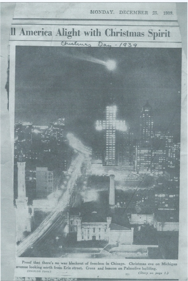 A clipping from Joan's scrapbook.  A photo from the newspaper in Chicago, 1939.