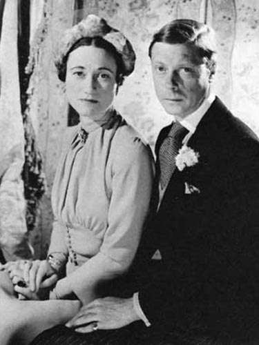 "Wallis Simpson and Edward VIII, who abdicated to marry ""the woman I love."""