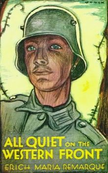 Cover of first English language edition. The Cover of first English language edition. design is based upon a German war bonds poster by Fritz Erler.