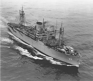 USS George Clymer (APA-27) underway, date and location unknown