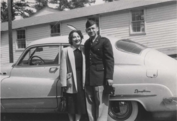 Ruth and Sidney Goldstein in South Carolina. Sidney was stationed there before he went to Korea.
