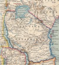 Map of German East Africa