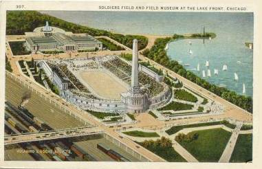Postcard of Soldiers Field