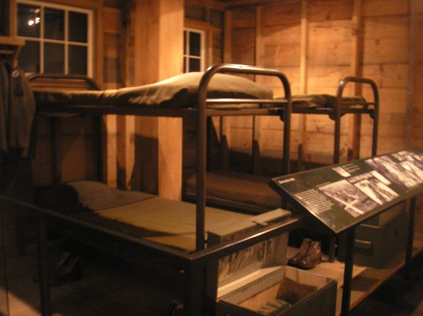 Barracks display at National World War II Museum, New Orleans.