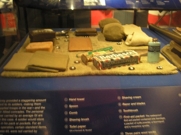 Ration pack material;  photo from National World War II Museum, New Orleans.