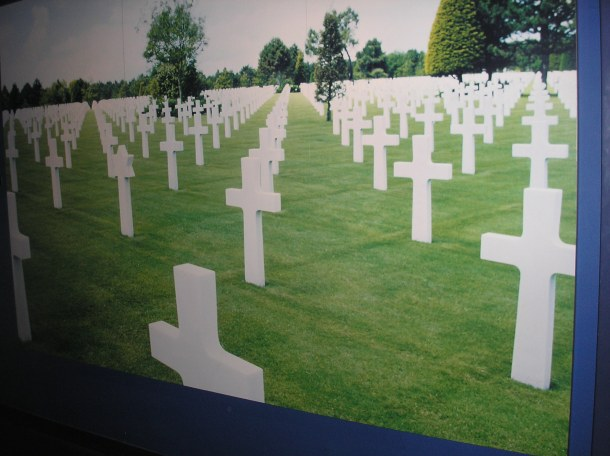 Cemetary in Normandy; photo from National World War II Museum, New Orleans.