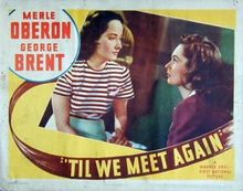 Poster from the 1940 film, Till We Meet Again.