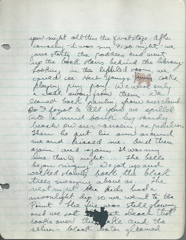 From Joan's diary: Saturday, August 30, 1941