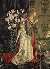 Image of Galahad from a tapestry by Edward Burne-Jones, c. 1894