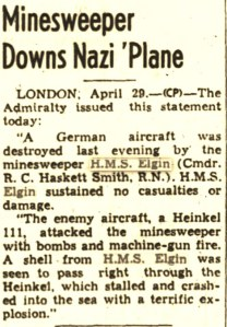 London Gazette, 29 April 1941