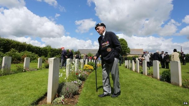 British veteran at a British cemetery.