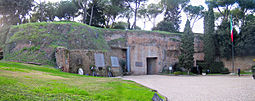 Entry to caves in the Fosse Ardeatine Monument. From http://en.wikipedia.org/wiki/Ardeatine_massacre.