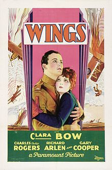 Poster for the movie Wings from 1927.