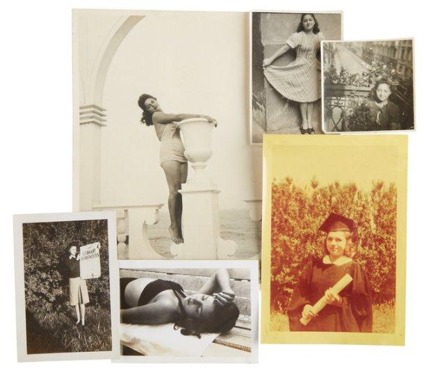 Mary Berg in various photos.