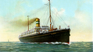 The Ryndam which my grandmother, Neva, sailed on in 1905.