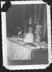 Mom and Dad cutting the cake--and this during wartime rations!