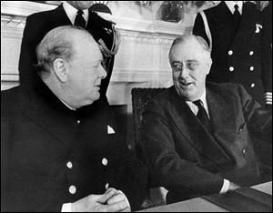 Eleanor Roosevelt wasn't any too pleased about Churchill's visit. Read about that visit here.
