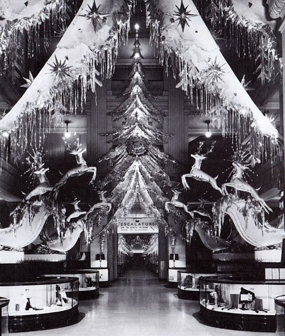 Christmas Display at Marshall Field's in the 1930s or 1940s.